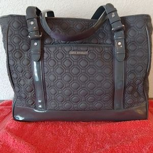 Vera Bradley Quilted with Patent Leather Trim Tote